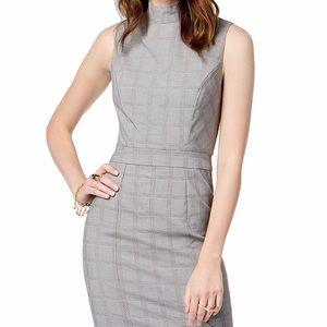 Mock Turtleneck Plaid Pencil Skirt Dress w/ tags